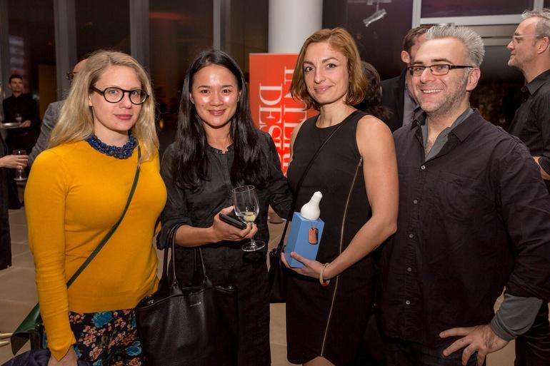 Jessica Pearson, Peta Yeap, Olivia Blechschmidt, and Josh Weinstein of Karim Rashid. Photography by Erik Bardin.