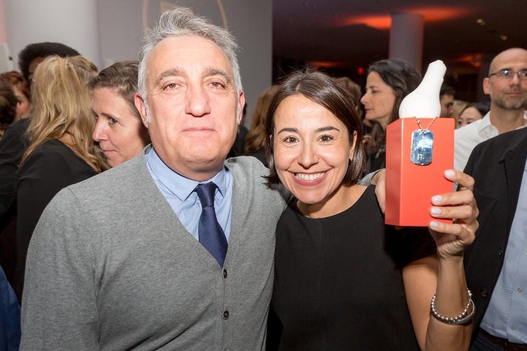 Jose Luis Calleja of Cosentino and Ana Granados of of Cosentino. Photography by Erik Bardin.