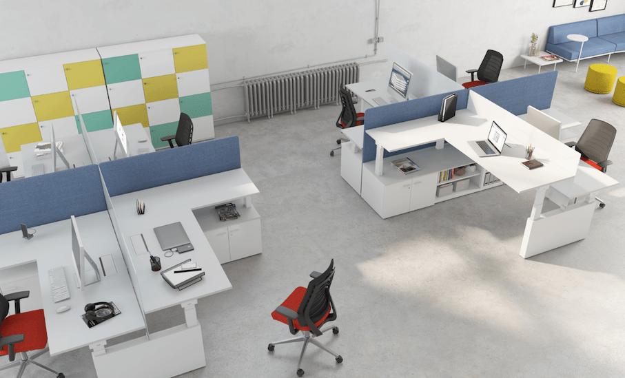 mesas de oficina de altura regulable
