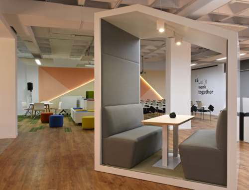 Innovative work spaces in the new Ofita showroom