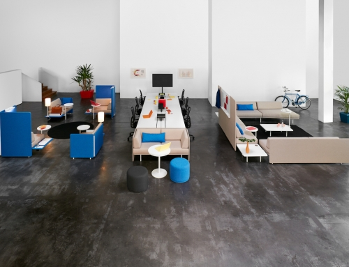 Menu d'espaces de travail dans les nouveaux bureaux post Covid