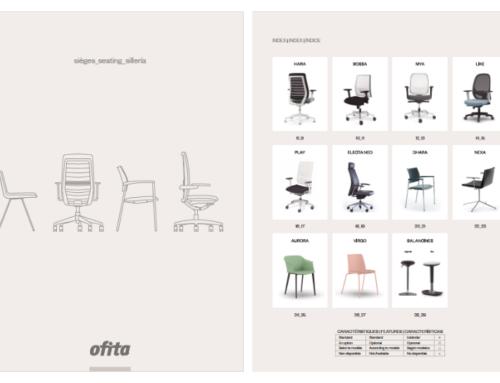 Todas las sillas de oficina Ofita, ahora en un mismo catálogo
