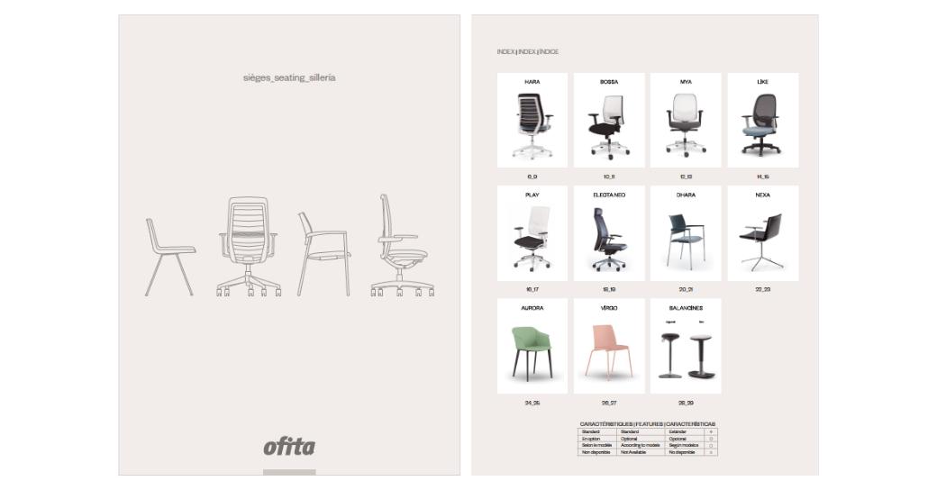 Catálogo de sillas Ofita