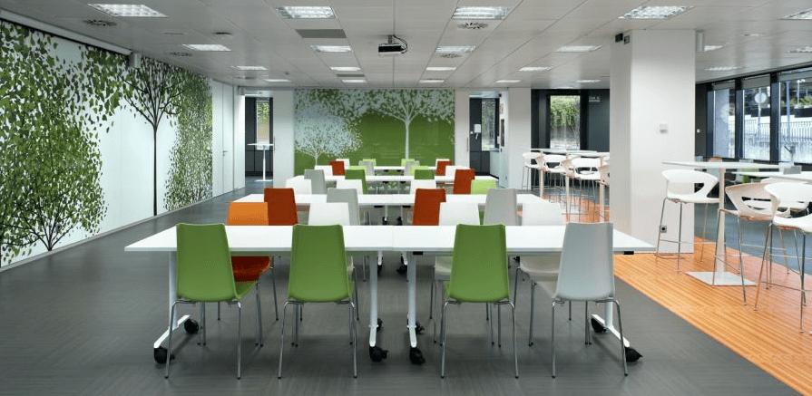 Elementos b sicos para el comedor de tu oficina ofita for Comedor sillas de colores